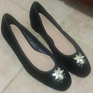 Zara trafauluc velvet bug heels- size 37